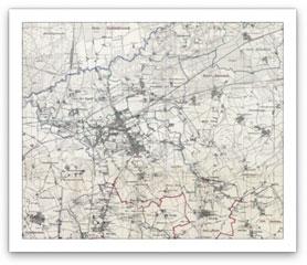 Herne Karte.Stadt Herne Historische Karten Herne 1888